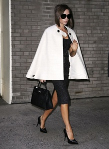 Victoria rocking a gorgeous white cape