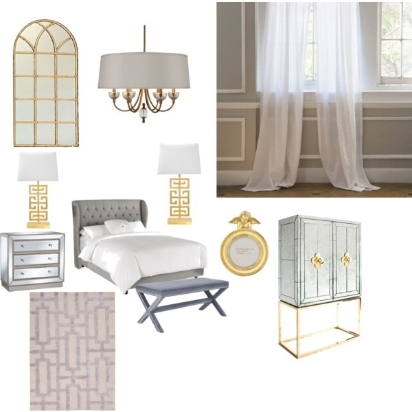grey and gold home