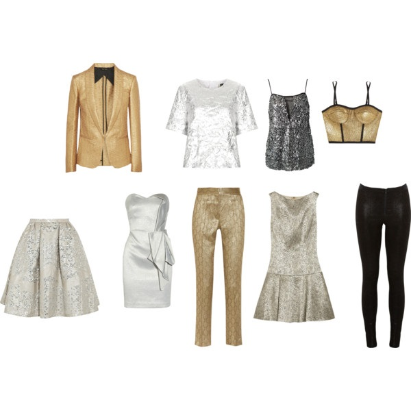 metallic party wear
