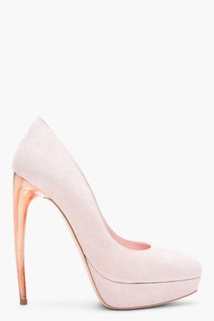 mcqueen pale pink pumps