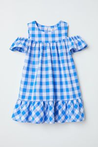 H&M Open shoulder gingham dress