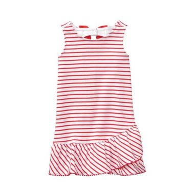 Janie and Jack red and white striped soft dress